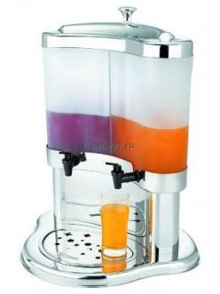 Диспенсер для напитков двойной с матовым резервуаром 2х5л 43х38,5х52см