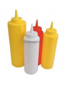 Емкость для соуса белая 230мл пластик