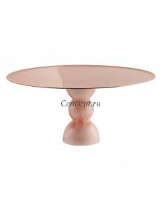 Этажерка медного цвета 30х14см розовая ножка  Sambonet Madame