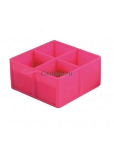 Форма для льда силиконовая Куб 4 ячейки 4.5х4.5см