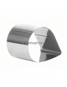 Форма для выпечки Капля 6х4х3см нержавеющая сталь