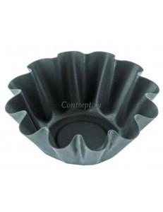 Форма гофрированная для кекса 50мл 4,5х7х2,6см сталь