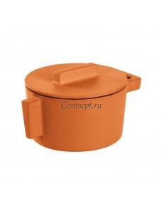 Кастрюля с крышкой 310 мл  диаметр 10 см высота 7,5 см цвет Curry чугун Sambonet