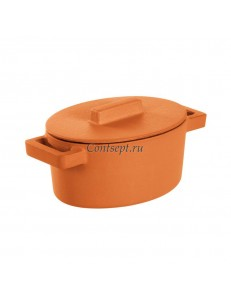 Кастрюля с крышкой 450 мл овальная Curry чугун Sambonet