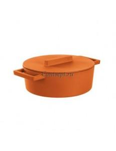 Кастрюля с крышкой 5 л овальная Curry чугун Sambonet