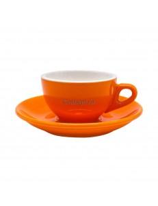 Кофейная пара 180мл оранжевый цвет серия Barista фарфор PL Proff Cuisine