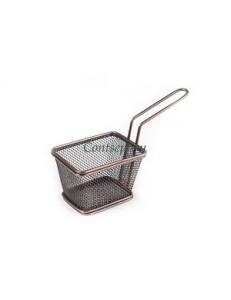 Корзинка для подачи 10х9см нержавеющая сталь с медным покрытием Antique Copper