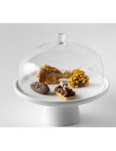 Крышка к подствке для торта 20х11см борисиликатное стекло PORDAMSA серия Stands & domes
