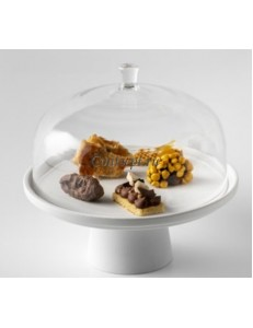 Крышка к подствке для торта 22х14см борисиликатное стекло PORDAMSA серия Stands & domes