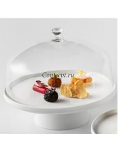 Крышка к подствке для торта 27х15см борисиликатное стекло PORDAMSA серия Stands & domes