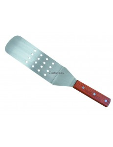 Лопатка перфорированная с деревянной ручкой 19х7,4см