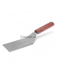 Лопатка с острыми краями и деревянной ручкой 11,5х7см