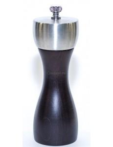 Мельница для соли деревянная черная 15 см