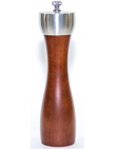 Мельница для соли деревянная коричневая 20 см