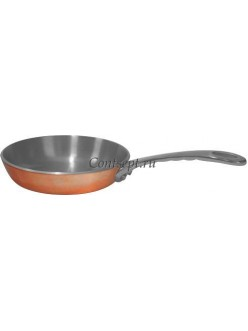 Мини сковородка для подачи 10х2см нержавеющая сталь с медным покрытием