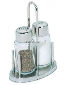 Набор для специй 2 предмета соль/перец на подставке Cardamom нержавеющая сталь стекло