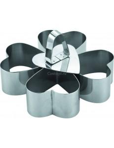 Набор и четырех сердец с 1 прессом 8,5х8,5х5см нержавеющая сталь