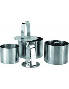 Набор из трех колец с 1 прессом нержавеющая сталь