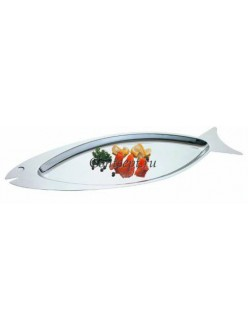 Поднос для рыбы 66х22,5см нержавеющая сталь