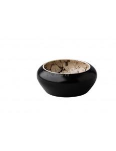 Салатник 12x5,2см Bubble black satin Raw Desigh by Kevala