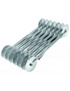 Резак для теста раздвижной с двойными лезвиями 14 лезвий 70см нержавеющая сталь