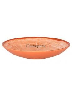 Салатник  26 см оранжевая фарфор RAK серия Woodart