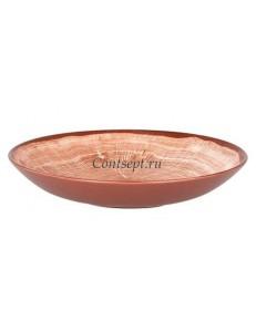 Салатник  26 см светло-коричневая фарфор RAK серия Woodart
