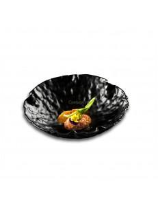 Салатник 1000мл 26см стекло цвет черный PORDAMSA серия Crater