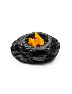 Салатник 22см 125мл стекло цвет черный  PORDAMSA серия Crater