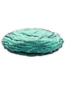Салатник 24см 250мл зеленый стекло PORDAMSA серия Mar