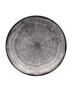Салатник 26 см  серая фарфор RAK серия Woodart