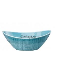 Салатник овальный 16х12см фарфор Rosenthal серия Mesh Aqua