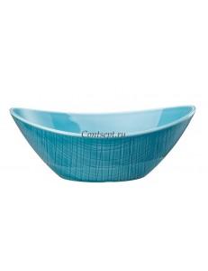 Салатник овальный 20х15см фарфор Rosenthal серия Mesh Aqua