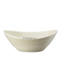 Салатник овальный 20х15см фарфор Rosenthal серия Mesh Cream