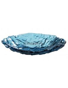 Салатник овальный 23х17см 250мл синий стекло PORDAMSA серия Mar