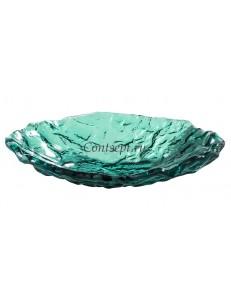 Салатник овальный 23х17см 250мл зеленый стекло PORDAMSA серия Mar