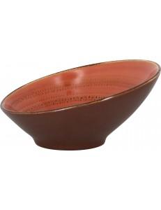 Салатник скошенный 22х9 см 650млCoral фарфор RAK серия Twirl