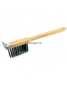Щетка для чистки гриля с металлическая щетиной 51см