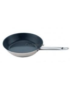 Сковорода 24х5см нержавеющая сталь с антипригарным покрытием