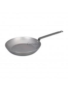 Сковорода c ручкой 20х4см белая сталь PL Proff Cuisine
