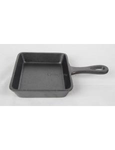Сковорода порционная прямоугольная для подачи 13х10см чугун