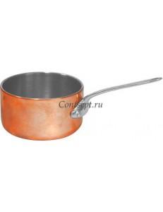 Сотейник 150мл 7см нержавеющая сталь с медным покрытием
