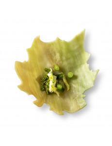 Тарелка Виноградный лист зеленая 17,5х16,5х3,5см стекло PORDAMSA серия Botanique