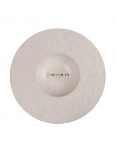 Тарелка для пасты 28х4см серия Elephant Ivory матовый фарфор PL Proff Cuisine