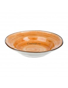 Тарелка глубокая 22см 350мл фарфор PL Proff Cuisine серия ORGANIC FUSION
