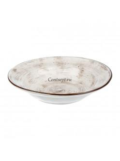 Тарелка глубокая 22см 350мл фарфор PL Proff Cuisine серия WHITE FUSION