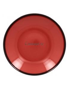 Тарелка глубокая красная 26см 1200мл фарфор RAK серия LEA