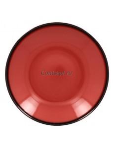 Тарелка глубокая красная 30см 1900мл фарфор RAK серия LEA