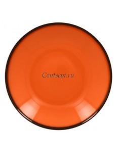 Тарелка глубокая оранжевая 26см 1200мл фарфор RAK серия LEA