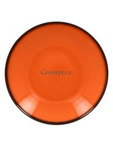 Тарелка глубокая оранжевая 30см 1900мл фарфор RAK серия LEA